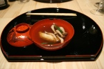 anago, maple dashi, shimeji mushroom