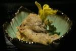 chrysanthemum, eggplant, shiso leaf