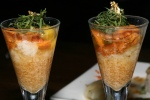Vancouver famous Chef Sada's Sea Urchin Shooter – Natural Ocean Viagra, Shiso* sticky Yamaimo Yam, Sea Kelp, Sushi Rice, Yuzu Orange and Sea Urchin in one. You can eat it or drink it
