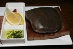 Stone Grilled Beef Tongue will be served with hot stone on your table $10.20