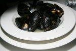 Moules à la Marinière – Cultured PEI mussels steamed with white wine, garlic and shallots
