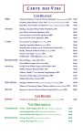 The Menu - Vin Blanc