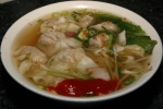Wonton with egg noodle soup $5.50
