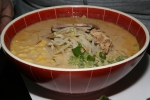 Noukou Tonkotsu Miso Ramen $10.00 (Pork shoulder, Green onion, Bean sprouts, Cabbage and Corn)