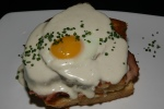 Croque Madamme Sandwich Slow Roasted Ham/Monforte Abondance Cow's Milk Cheese Sourdough Brioche/Fried Egg/Mornay Sauce