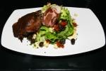 "Confit Duck Salad Confit Duck Leg/Bibb Lettuce/REST Capocollo/Niagara Gold Cheese Quail's Egg/ Nicoise Olives! Tomato ""Raisins""/ Fine Herb Vinaigrette"