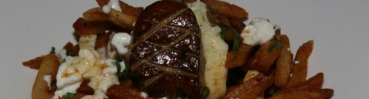 Foie Gras Poutine Pan Seared Foie Gras/Monforte Sheep Curds/Cabernet Franc Jus