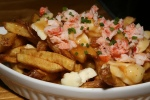 Lobster Poutine - $13 Yukon Hand-cut Fries + Lobster Bisque Gravy + QC Curds + Fresh Lobster + Chives