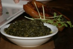 Crispy Maple Pork Belly - $12 Pork Belly + Creamed Spinach