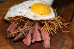 Flank Steak - $14 Flank Steak + Fried Duck Egg + Hickory Sticks + Crown Royal Whiskey Sauce