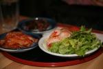 Tofu and Shrimp Salad, Kimchi