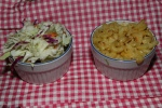 Sides: Coleslaw and Mac 'n' Cheese