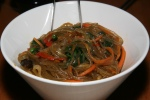 jap chae sweet potato noodles & vegetables