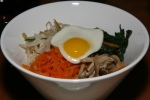 baby bibimbap  rice, 4 daily veg & quail egg