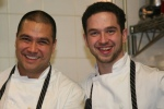 Sous chef Dennis Tay with Chef/Owner Carl Heinrich