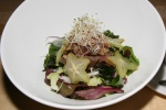 Poki Salad 10 Hawaiian style salad fresh fish sashimi fruits on top of mixed greens Ryoji sweet chili dressing