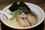 Onna-Aji (Shio) 11 Original Ryoji style - Light and flavourful chicken and pork bone broth, topped with pork belly Chashu, leek konbu, fish cake and dried seaweed