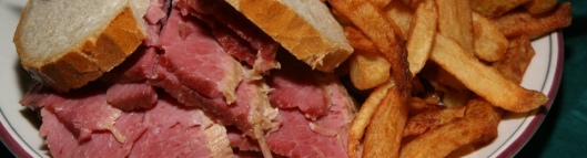 The Centre Street Special lean corned beef served on double rye, with fries, cole slaw, and a dill $15.00