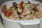 Crab Baked with Rum served with Bread 2.75 lb.