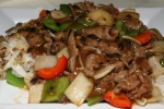 Rice Noodle with Beef in Black Bean Sauce $9.50
