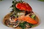 Poached Lobster - broad lemon noodle, cauliflower, puntarella, trumpet mushrooms, capers, brown butter sauce