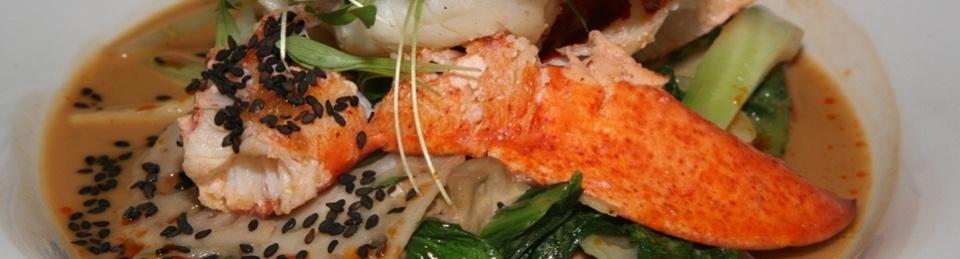 Poached Lobster - broad lemon noodle, cauliflower, puntarella, trumpet mushrooms, capers, brown butter sauce