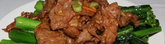 Stir Fried Beef with Vegetable and Oyster Sauce $10.95