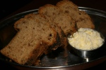 Eggplant bread with truffled butter