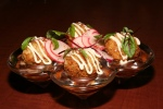 Pork Belly Arancini, smoke mayo, valentine radishes