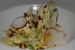 Iceberg Wedge Salad, Roasted Garlic Dressing, Crispy Bacon, Parmigiano-Reggiano