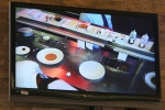 Kitchen Monitor TV located in the Dining Room