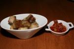 Crispy Pork Belly, Red Kimchi, 6