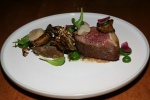 Beef Strip Loin, Confit Brisket, Spinach Puree, Maitake, Pecan, Pickled Cippolini, 26