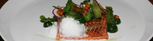 Cured BC Steelhead, Cucumber, Watercress, Sea-Buckthorn, Buttermilk 14