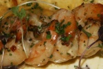 Sautéed garlic prawns with beurre blanc