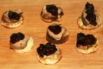 Oven roasted foie gras on brioche with spiced blackberry