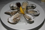 Oysters Daily priced accordingly on the half shell/red wine mignonette/fresh horseradish/lemon 29 Jersey Rock Oysters from the Isle of Jersey, United Kingdom