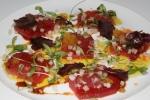 Yellow Fin Tuna Sashimi 22 finger lime/radish/shallots/soy glaze/sweet chili sauce/coriander yuzu tobikko