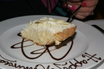 Coconut Cream Pie 13 white chocolate shavings/dark chocolate sauce