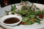 Arugula Salad pickled eggplant shaved mushrooms oven dried tomatoes with balsamic vinaigrette $10.95