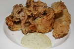 Fried Calamari with lemon-caper aioli $13.95