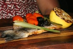 Whole Branzino baby fennel cherry tomatoes black olives grilled lemon $26.95