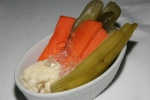 Delicious Kosher Dills, pickled celery, pickled carrots and pickled cauliflower