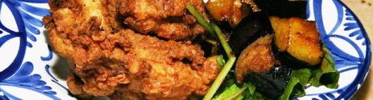 Fried Chicken and Spicy Sticky Eggplant, 13