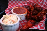 1 lb. Smoked Chicken Wings $10 + 2 Sides [or 1 drink + 1 Side] $10