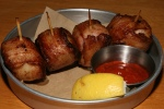 Bacon-wrapped Digby scallops 18