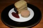 Foie gras, rhubarb & brioche 18