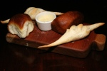 House bread and butter by Rachelle Vivian  (Parker House rolls/Mini Bagettes)