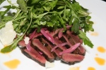 beef heart, wild arugula, buffalo milk reggiano, pickled onions 11
