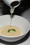 White Gazpacho • almond • cucumber • basil seed